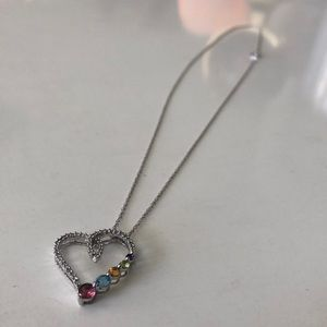 JWBR Jewelry - JWBR Floating Heart Necklace 10K White gold
